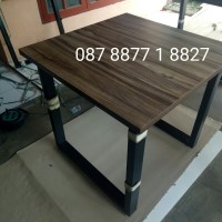 terlaris meja Bar cafe, kantin, restoran, pasar 80*80*75 HPL+edging