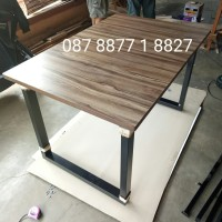 terlaris meja Bar cafe, kantin, restoran, pasar 120*80*75 HPL+edging