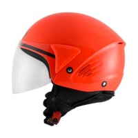 Helm KYT Cougar Open Face Plain Solid Red Fluo Size M – SH706