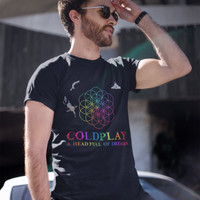 ColdPlay A Head Full Of Dreams Tour Kaos Band Printed In Gildan Shirt