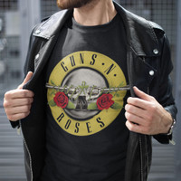 Jual Guns and Roses - Logo Kaos Band Original Gildan Murah