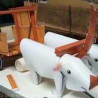 Papercraft Gerobak Sapi Panjang 70 cm