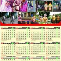 Kalender Dinding Tahun 2019 Custom Foto 1 Lembar Portrait AC 260 Gram