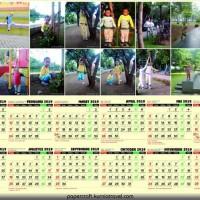 Kalender Dinding Tahun 2019 Custom Foto 1 Lembar Landscape AC 260 Gram