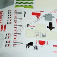 Pola Papercraft SPBU Pertamina Tipe 2