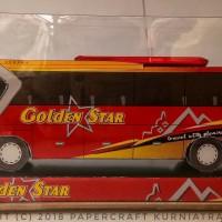 Papercraft Bus Golden Star (sugeng Rahayu)