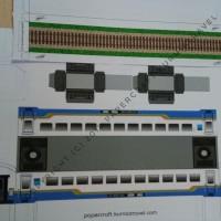 Pola Papercraft Kereta Bisnis Biru