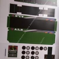 Pola Papercraft Bus Antar Lintas Sumatera (ALS) DD Panjang 35 cm