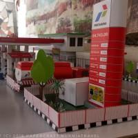 Papercraft Bangunan SPBU Pertamina Tipe 2