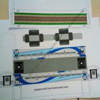 Pola Papercraft Kereta Livery Ombak Biru