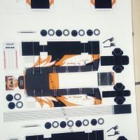 Pola Papercraft Bus Haryanto Warna Orange