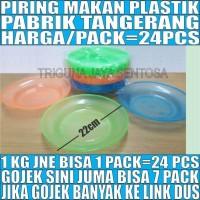 Piring Makan Plastik Tebal Besar Murah Transparan Warna