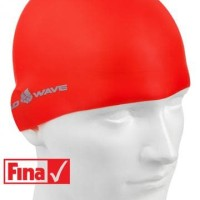 Topi Renang Mad Wave Intensive Silicone Solid Merah