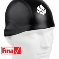 Topi Renang Mad Wave R-CAP FINA Approved Black Size S