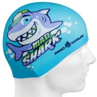 Topi Renang Anak Silicone Mad Wave Mad Shark Azure