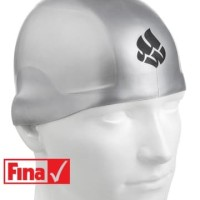 Topi Renang Mad Wave R-CAP FINA Approved Silver Size S
