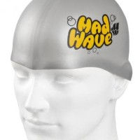 Topi Renang Anak Mad Wave Silicone Junior Solid Silver