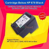 Cartridge Tinta Bekas HP 678 Black CZ107AA, Printer HP 1515, 2515, 254