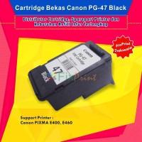 Cartridge Tinta Bekas Canon PG-47 Black , Printer Canon E400 E460