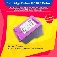 Cartridge Tinta Bekas HP 678 Color CZ108AA, Printer HP 1515, HP 2515,