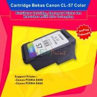 Cartridge Tinta Bekas Canon CL-57 Color, Printer Cannon E400 E460