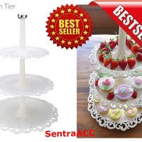 Tempat Kue STAND CUPCAKES BIRTHDAY WEDDING 3 TIER Cup Cake Rack