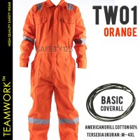 TW01 TeamWork Coverall Proyek Safety Scotlight Wearpack Terusan Orange