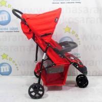 Hugo RC2030 Starlight 3-Wheeler Baby Stroller Kereta Dorong Bayi Red