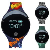 Smartwatch Bluetooth Layar Sentuh Bulat Anti Air untuk Olahrag