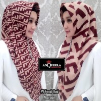 ANQUEELA HIJAB INSTAN ORI LABEL ANQUEELA PV FENDI RED