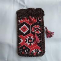 Tas Selempang Rajut Batik Wanita Mini HP Nokia Samsung Souvenir Jogja
