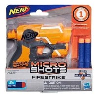 Nerf Micro Shot Fire strike pistol mainan - hp