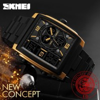 Harga skmei 100 original jam tangan multifungsi elektronik pria   antitipu.com