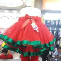 rok tutu natal merah hijau anak anak