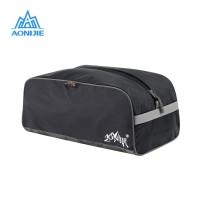 AONIJIE E815 Folding Shoe Bag - Tas Sepatu Sport Travel Gym - Black