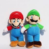 10 Inch Super Mario brosStand MARIO LUIGI Boneka Mewah Boneka Mainan 73408372f2