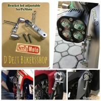 BRACKET BRAKET LAMPU SPAKBOR SERPO ADJUSTABLE NMAX XMAX LEXI AEROX