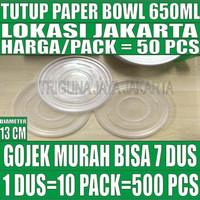 Tutup paper bowl 650ml hanya lid mangkok kertas 650 ml Gojek jakarta