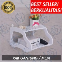 RAK DINDING ROUTER WIFI MODEM TELEPON BUKU ALAT TULIS SERBAGUNA S435