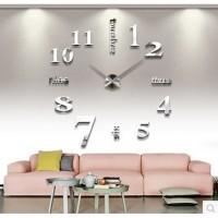 Jam Dinding DIY 80-130cm Diameter - ELET00659 - Silver 2a620dd8fe