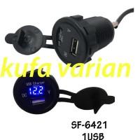Best Casan Hp Di Motor USB Charger plus Voltmeter Nmax Aerox Vario