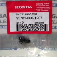 Baut Body kunci 10 Bolt Flange 6x12 95701-060 1207 Original Honda