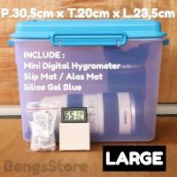 Dry Box - Dry Cabinet Kamera Dslr Mirorless Size Large Plus Hygrometer