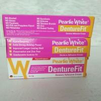 Pearlie White Denture Fit / Denture Adhesive Cream / Lem Gigi Tiruan