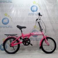 Sepeda Lipat Evergreen EG1805 Remaja-Dewasa 16 Inci Rangka Steel