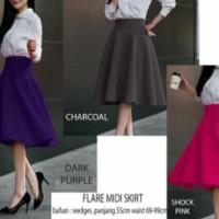 Flare Midi Skirt A190 61 62 63 64 65