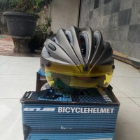 Helm Sepeda Mtb Dengan Kaca Mata Goggles Dan Sunvisor Dari Lapak
