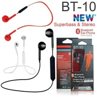 Promo !!! Bluetooth Handsfree / Headset / Earphone Bt-10 Stereo Best