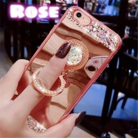 Diamond Plated Mirror Case For Samsung Galaxy J2 Prime & Ring Stand