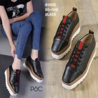 Sepatu Wedges GC Tinggi 7cm Wanita Casual Putih / Sneaker Korea 83
